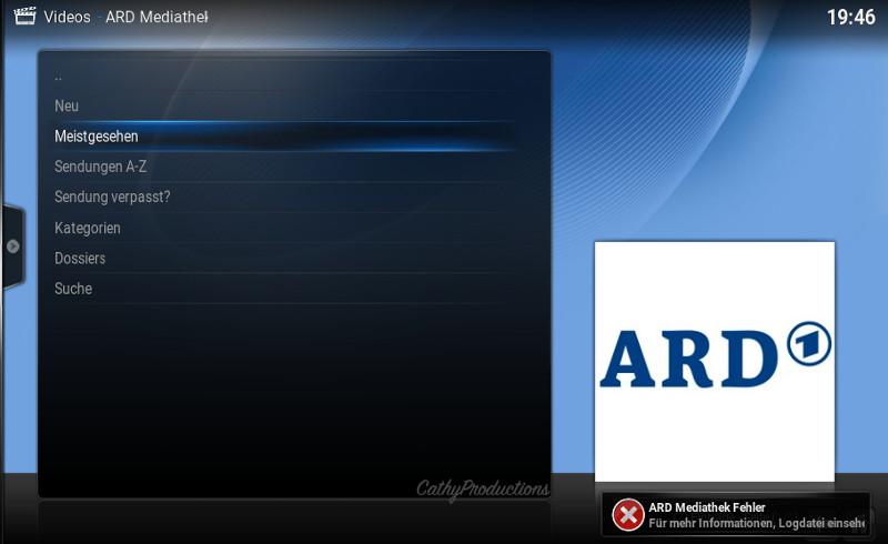 Bug Fehler ARD Mediathek